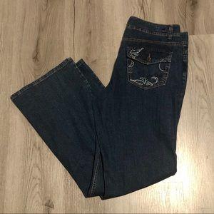 Bandolinoblu Denim Jeans Womens 14 stretch Dark